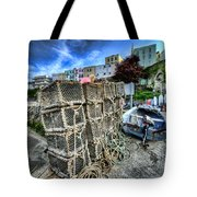 Tenby Lobster Traps Tote Bag