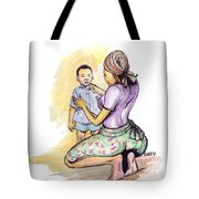 Tender Mother Tote Bag