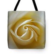 Tenderness White Rose Tote Bag