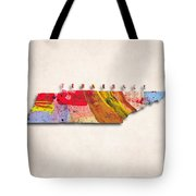 Tennessee Map Art - Painted Map Of Tennessee Tote Bag