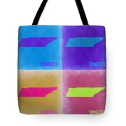Tennessee Pop Art Map 2 Tote Bag by Naxart Studio