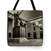 Tennessee War Memorial Black And White Tote Bag