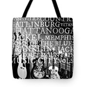 Tennessee Words Sign Tote Bag by Chastity Hoff