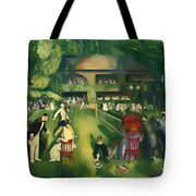 Tennis At Newport 1920 Tote Bag