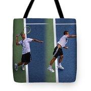 Tennis Serve By Mikhail Youzhny Tote Bag
