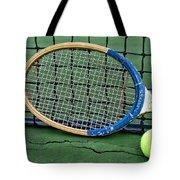 Tennis - Vintage Tennis Racquet Tote Bag
