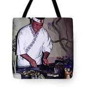 Teppanyaki Cooking  Tote Bag