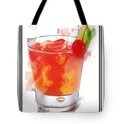 Tequila Sunrise Cocktail Marker Sketch Tote Bag