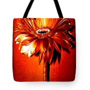 Tequila Sunrise Zinnia Tote Bag