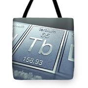 Terbium Chemical Element Tote Bag