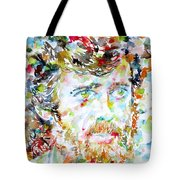 Terence Mckenna - Watercolor Portrait.3 Tote Bag
