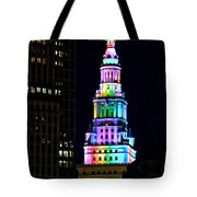 Terminal Tower Rainbow Tote Bag