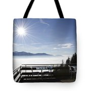 Terrace With Panoramic View Tote Bag