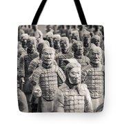Terracotta Army Tote Bag by Adam Romanowicz