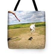Terrier Levitation Tote Bag