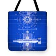 Tesla Alternating Electric Current Generator Patent 1891 - Blue Tote Bag