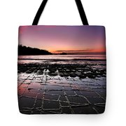 Tesselated Pavement Sunrise Tote Bag