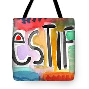 Testify Greeting Card- Colorful Painting Tote Bag