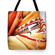 Teton Dacota Indian Woman Detail Tote Bag