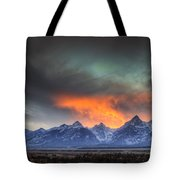 Teton Explosion Tote Bag by Mark Kiver