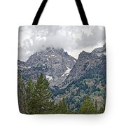 Teton Peaks Near Jenny Lake In Grand Teton National Park-wyoming- Tote Bag