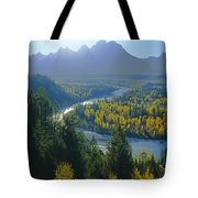 2m9301-teton Range From Snake River Overlook Tote Bag