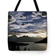 Teton Range Sunset Tote Bag