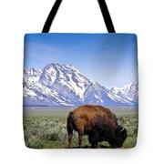 Tetons Buffalo Range Tote Bag