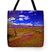 Tetons From Antelope Flats Tote Bag