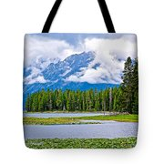 Tetons From Heron Pond In Grand Teton National Park-wyoming Tote Bag