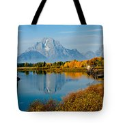 Tetons With Moose Tote Bag