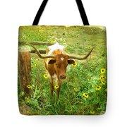Texan Longhorn Tote Bag