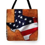 Texas American Flag Map Tote Bag