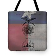Texas Badge Patent On Texas Flag Tote Bag