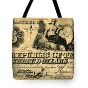 Texas Banknote, 1841 Tote Bag