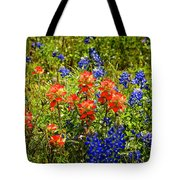 Texas Bluebonnets And Red Indian Paintbrush Tote Bag