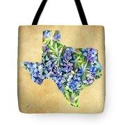 Texas Blues Texas Map Tote Bag
