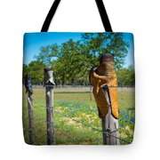 Texas Boot Fence Tote Bag