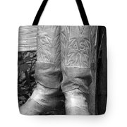 Texas Boots Portrait - Bw 03 Tote Bag