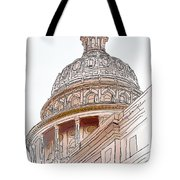 Texas Capitol Sketch Tote Bag