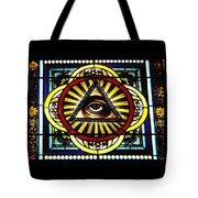 Eye Of Providence Texas Church Window Tote Bag
