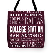 Texas Cities College Station Tote Bag
