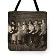 Texas Cowgirls 1950s Tote Bag