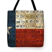 Texas Flag The Lone Star State License Plate Art Tote Bag
