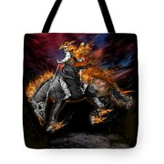 Texas Ghost Rider Tote Bag