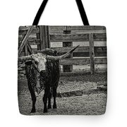 Texas Longhorn Black And White Tote Bag