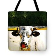 Texas Longhorn - Bull Cow Tote Bag by Sharon Cummings