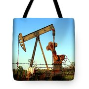 Texas Pumping Unit Tote Bag by Kathy  White