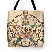 Texas Rangers Poster Art Tote Bag