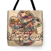 Texas Rangers Vintage Art Tote Bag